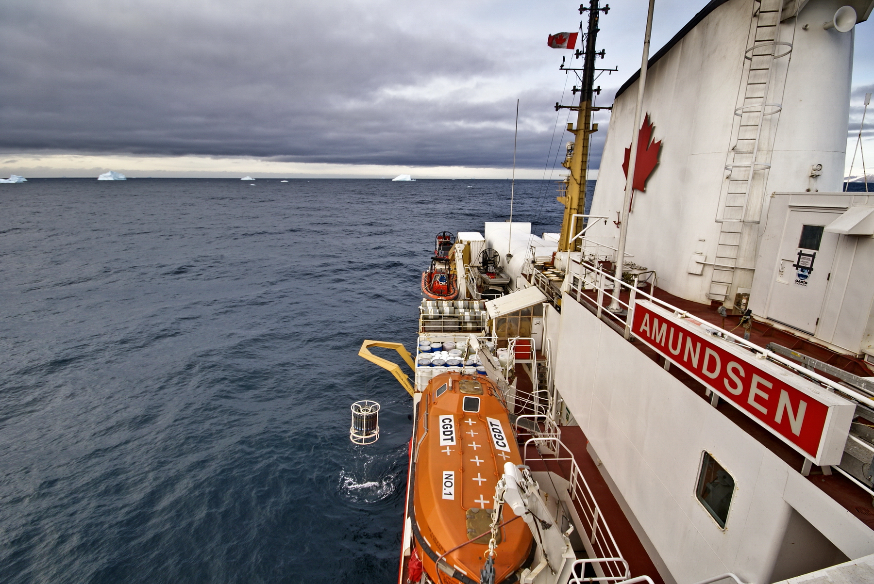Launch of the 17th Scientific Expedition onboard the CCGS Amundsen