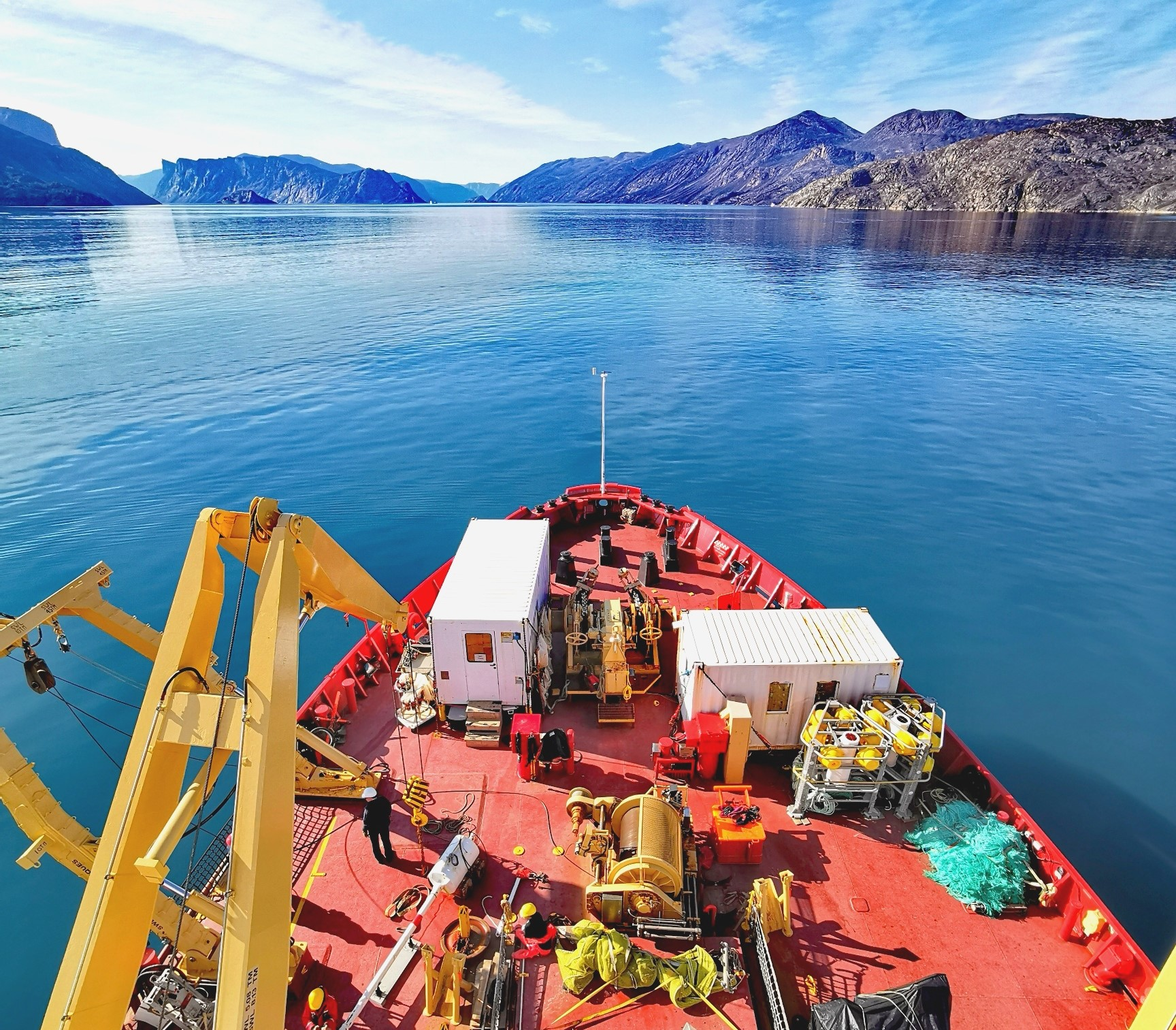 Submarine landslide caused by an iceberg in Southwind Fjord
